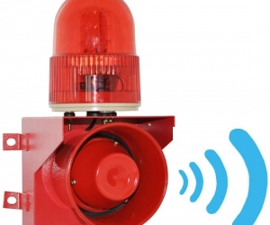 Microwave-Motion-Induction-Alarm-Siren-Horn-With-Flashing-Light-YS-01W