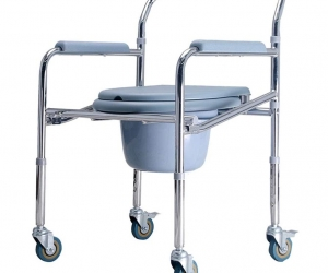 Height-Adjustable-Folding-Toilet-Chair-with-Wheels-for-High-Commode