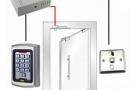 125khz rfid Door Access Control System for Frameless Glass Door Electric Bolt Lock Kit