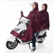 Double-BikeEbikeMotorcycleScooter-Cycling-Jacket-Poncho-Raincoat-Cape-